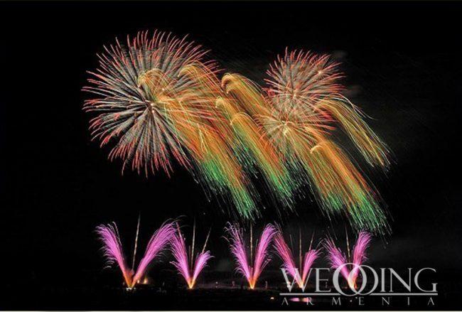 Fireworks in Armenia Wedding Armenia
