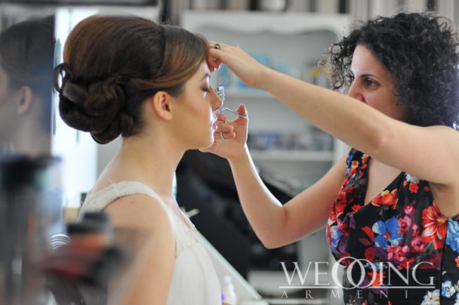 Hairstyle and makeup for a wedding Wedding Armenia