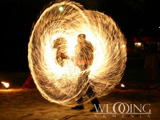Wedding Fire Show in Armenia