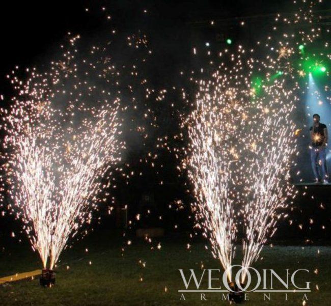 Фейерверки и салют на свадьбу Wedding Armenia