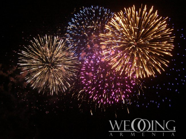 WeddingArmenia Wedding fireworks