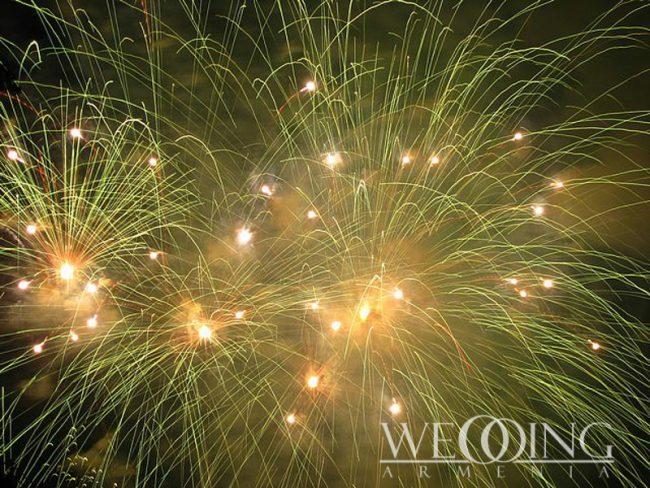 Phantom Fireworks in Armenia Wedding Armenia