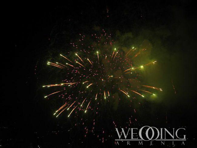 Professional wedding firework