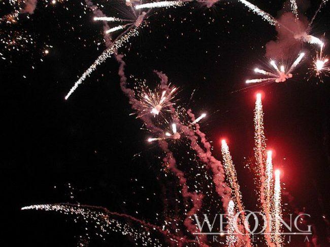 Fireworks Wedding Armenia