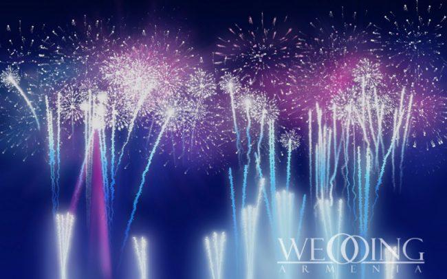 Fireworks Show Wedding Armenia
