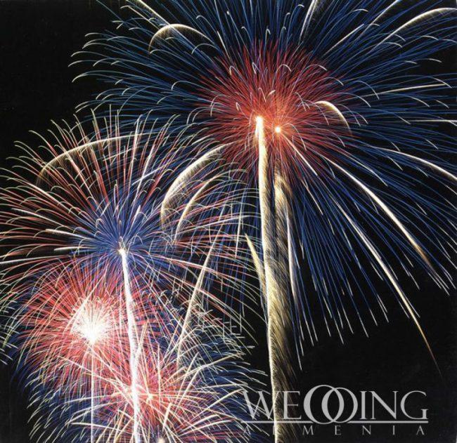Wedding Armenia Amazing Fireworks in Armenia