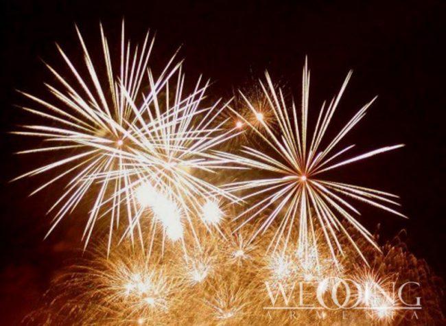 Indoor & Outdoor fireworks Wedding Armenia