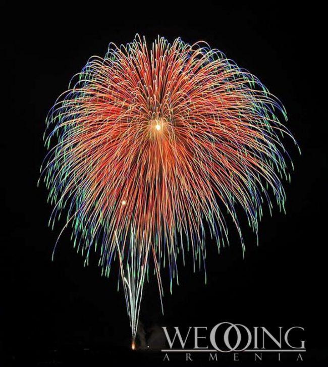 Wedding Armenia Professional wedding firework