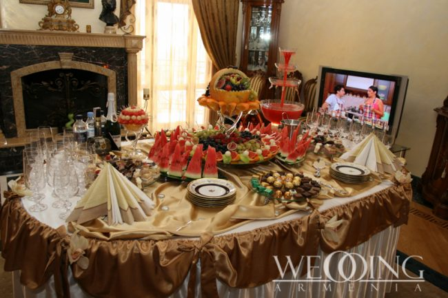 Wedding Catering Buffet in Armenia