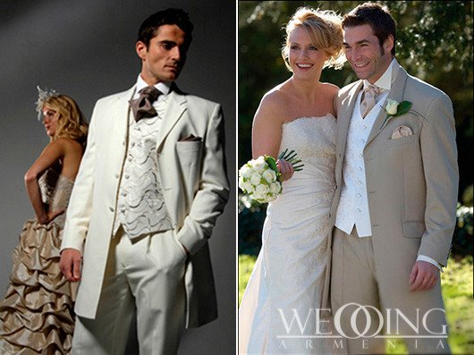 wedding armenia Groom Suit and Evening Gowns