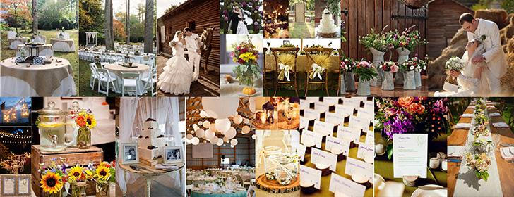 Rustic or Country weddings