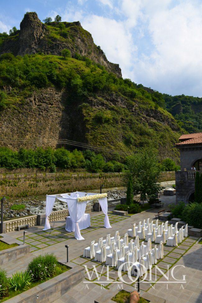 Wedding banquet at an outdoor terrace Wedding Armenia