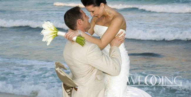 Свадьба на побережье Берег моря озера